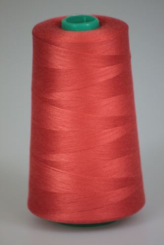 Niť KORALLI polyesterová 120, 5000Y, odtieň 2345, oranžová-ružová