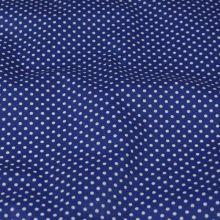 Bavlna modrá, drobné biele bodky, š.140