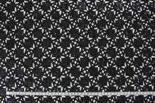 Krajka černá s flitry, š.125