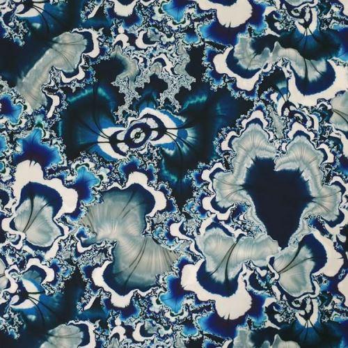 Šatovka, modro-biely polodrahokam, š.140