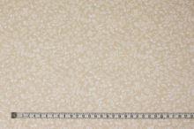 Bavlna béžová, drobný bílý vzor, š.140