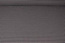 Košeľovina biela, modro-hnedé káro, š.150