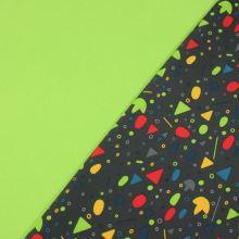 Softshell šedý, barevné konfety, š.145