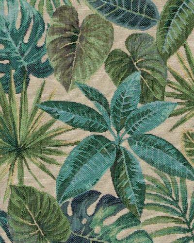 Dekorační látka JUNGLE, zelené listy, š.280