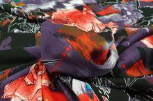 Úplet fialový, červený květ, š.145