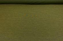Lněná kostýmovka zelená, barevné tenké pruhy, š.160