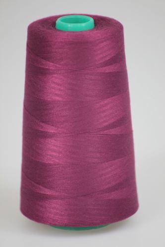 Nit KORALLI polyesterová 120, 5000Y, odstín 3655, fialová