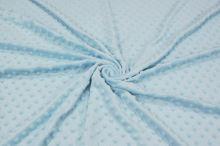 Minky svetlo modré, pretláčané ťuplíky, š.150