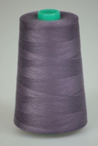 Niť KORALLI polyesterová 120, 5000Y, odtieň 4550, fialová-šedá