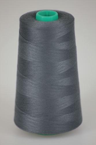 Niť KORALLI polyesterová 120, 5000Y, odtieň 9380, šedá
