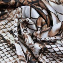 Satén snake hnedo-biely, š.150