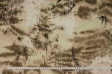 Košeľovina hnědobéžová vzor, š.135