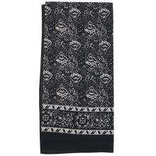 Dámský šátek černý, kašmírový vzor, 70x70cm