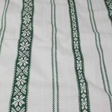 Bavlněné plátno, zelený vzor v pruzích, š.140
