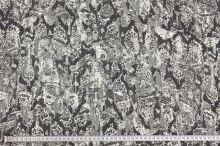 Šifón 10879 sivý, zvierací vzor, š.150