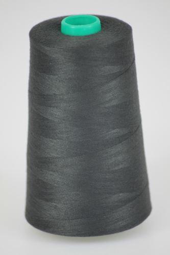 Nit KORALLI polyesterová 120, 5000Y, odstín 9585, černá-šedá