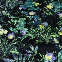 Bavlna modrá, farebný kvet, š.145