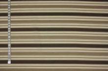 Košeľovina béžová, hnedý pruh, š.140