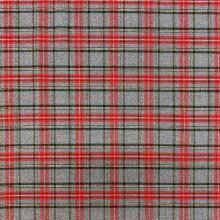Kostýmovka šedá, menší skotské káro, š.145