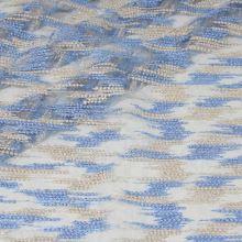 Vyšívaný tyl béžovo-modrý, š.125