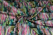 Satén barevné kostičky š.145