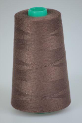 Niť KORALLI polyesterová 120, 5000Y, odtieň 8350, hnedá