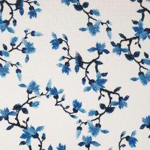 Madeira biela, modrý kvet, š.135/145