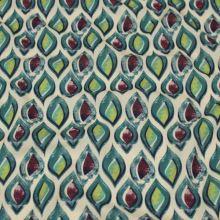 Šatovka krémová, zeleno-vínový vzor, š.145