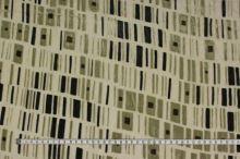 Šifon šedozelený, sametový vzor, š.140