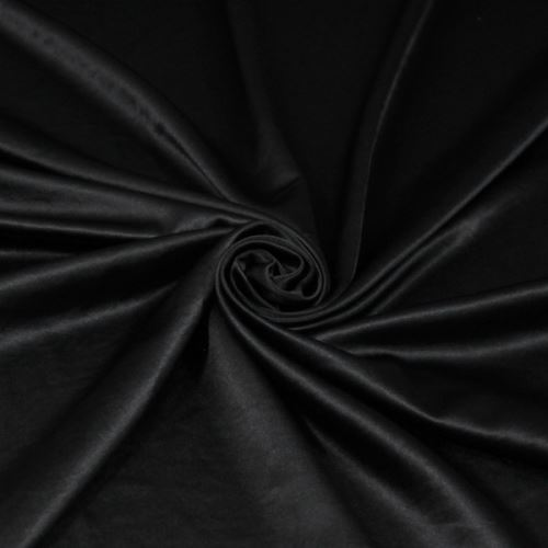 Satén černý 12342, jemný crash, š.140