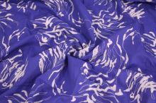 Košilovina modrá, bílá výšivka, š.140