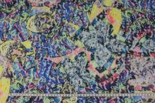 Krajka N3862, barevný vzor, š.150