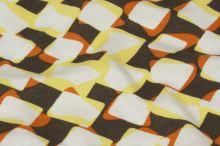 Úplet hnědý, žlutobílý vzor, š.145