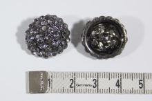 Gombík štrasový K19G, priemer 19 mm