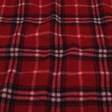 Kabátovina červeno-čierne káro, š.150