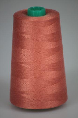 Niť KORALLI polyesterová 120, 5000Y, odtieň 2320, oranžová-ružová