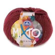 Příze MIXTO 50g, tmavě červená - odstín 055
