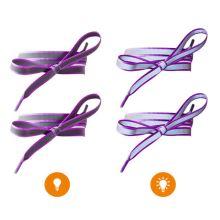 Reflexní tkaničky fialové, délka 120 cm
