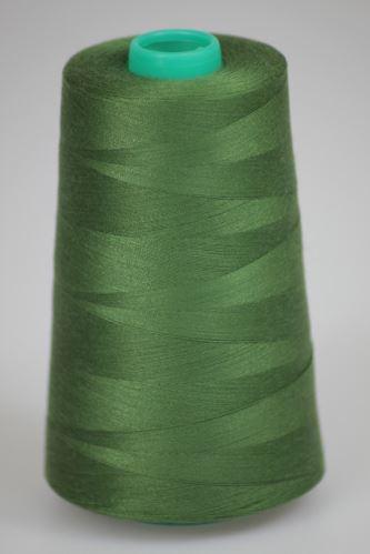 Niť KORALLI polyesterová 120, 5000Y, odtieň 6800, zelená