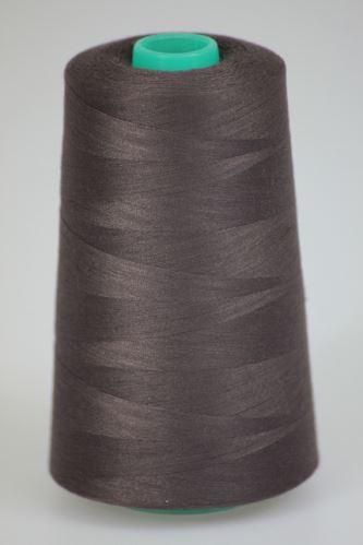 Niť KORALLI polyesterová 120, 5000Y, odtieň 8380, hnedá