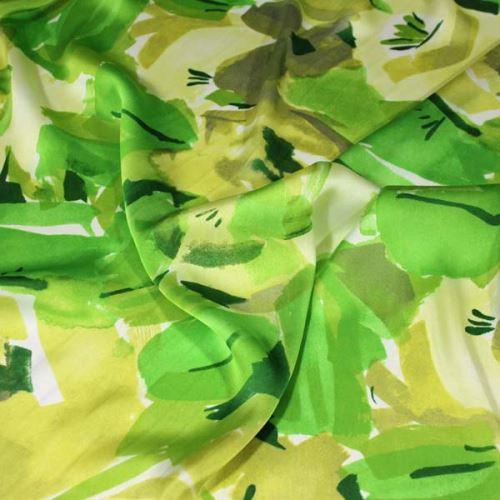 Šatovka zelenožltý vzor, š.145