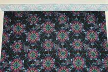 Úplet čierny, farebná mandala, š.175