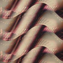 Satén marhuľovo-ružovej vlny, š.145