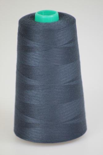 Niť KORALLI polyesterová 120, 5000Y, odtieň 5965, modrá-šedá