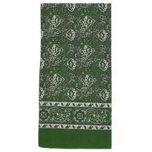 Dámský šátek zelený, kašmírový vzor, 70x70cm