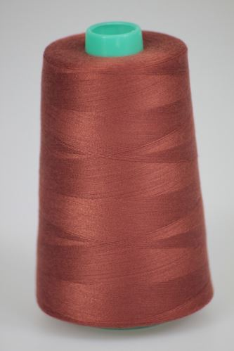 Niť KORALLI polyesterová 120, 5000Y, odtieň 8230, hnedá-oranžová