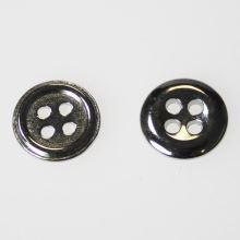 Knoflík stříbrný K18-2, průměr 11 mm.