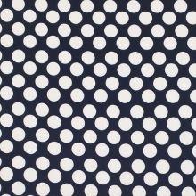 Úplet tmavomodrý, vzorované biele bodky, š.150
