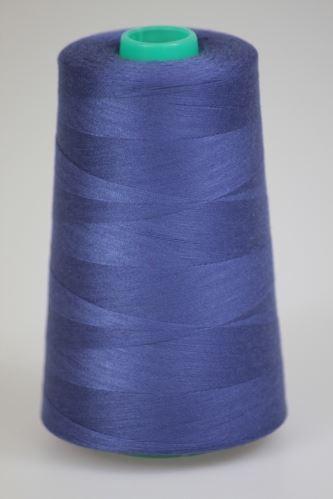 Niť KORALLI polyesterová 120, 5000Y, odtieň 5580, fialová-modrá