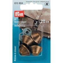 Kabelkový doplnok, chránič dna mosadz, 20mm